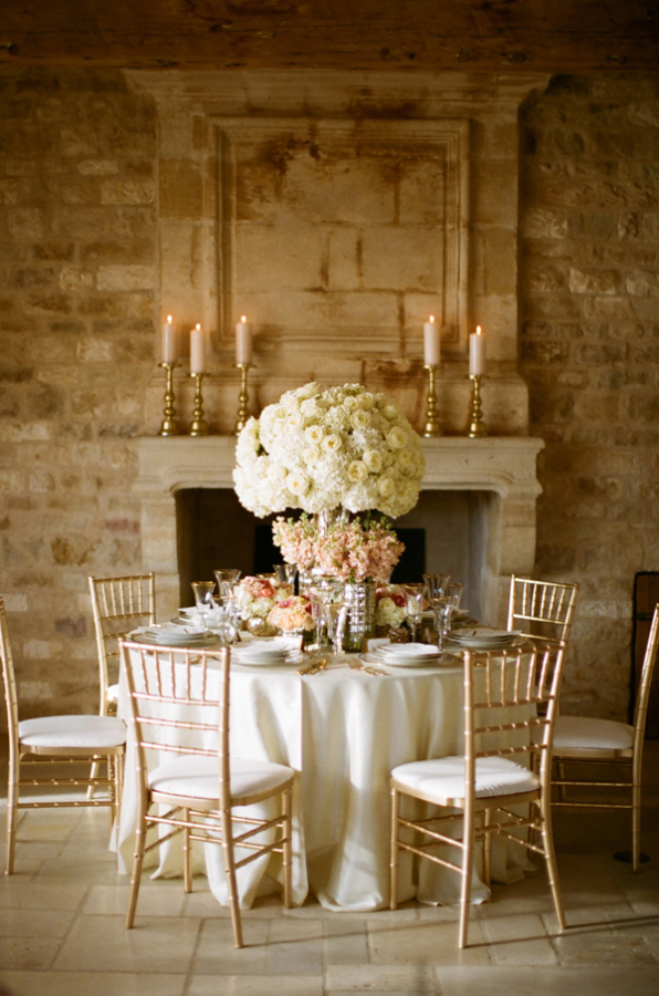 A Ball Room Table Designs at Sunstone Winery in Santa Barbara