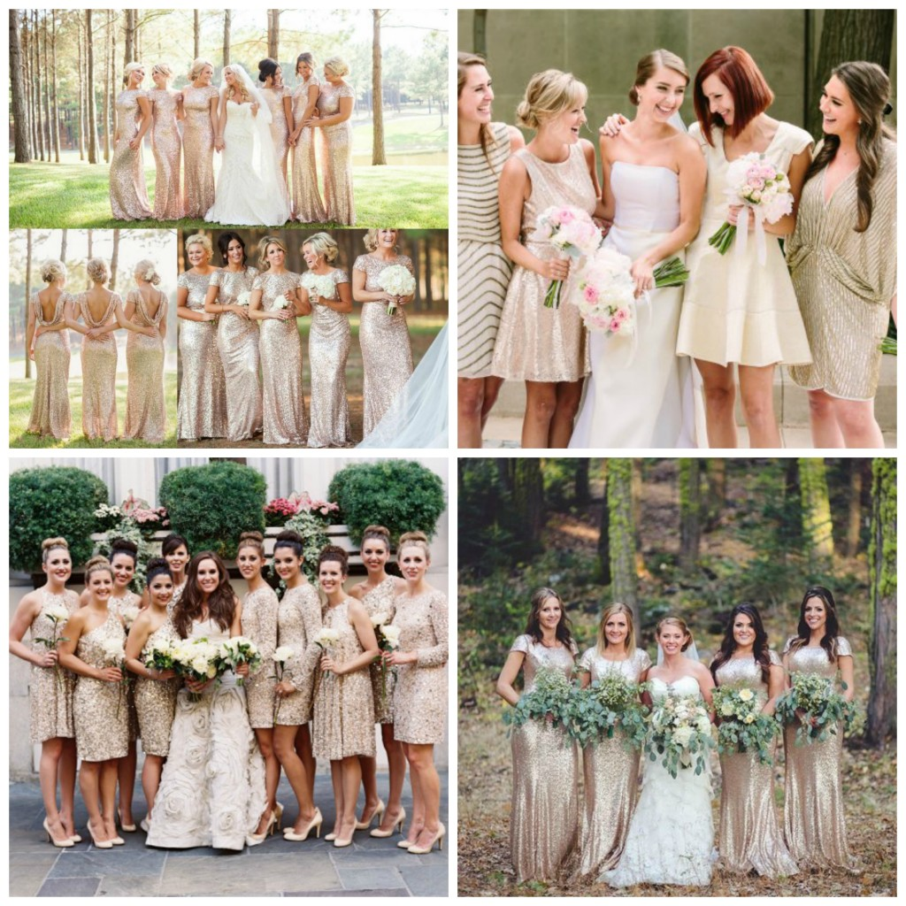 gold dresses collage